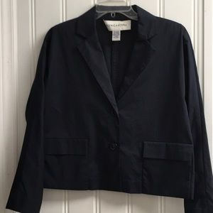 NWT Doncaster navy button front blazer size M